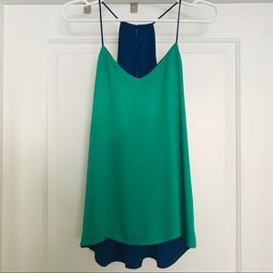EXPRESS Blue and Green Reversible Barcelona Cami